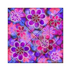 Pretty Floral Painting Acrylic Tangram Puzzle (6  x 6 )