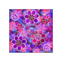 Pretty Floral Painting Acrylic Tangram Puzzle (4  X 4 )