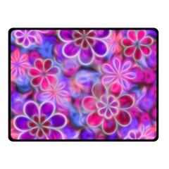 Pretty Floral Painting Double Sided Fleece Blanket (Small)