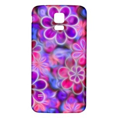 Pretty Floral Painting Samsung Galaxy S5 Back Case (White)