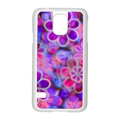 Pretty Floral Painting Samsung Galaxy S5 Case (White)