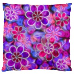 Pretty Floral Painting Large Flano Cushion Cases (Two Sides)