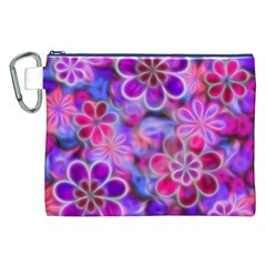 Pretty Floral Painting Canvas Cosmetic Bag (XXL)