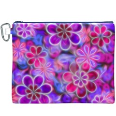 Pretty Floral Painting Canvas Cosmetic Bag (XXXL)