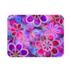 Pretty Floral Painting Double Sided Flano Blanket (Mini)