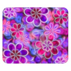 Pretty Floral Painting Double Sided Flano Blanket (Small)