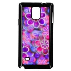 Pretty Floral Painting Samsung Galaxy Note 4 Case (black)