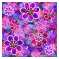 Pretty Floral Painting Large Satin Scarf (square)
