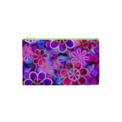 Pretty Floral Painting Cosmetic Bag (XS)
