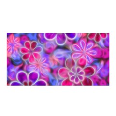Pretty Floral Painting Satin Wrap