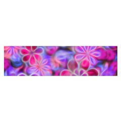 Pretty Floral Painting Satin Scarf (Oblong)