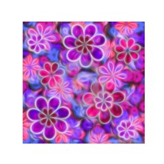 Pretty Floral Painting Small Satin Scarf (square)