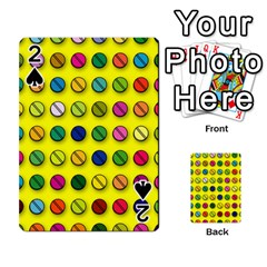 Multi Col Pills Pattern Playing Cards 54 Designs