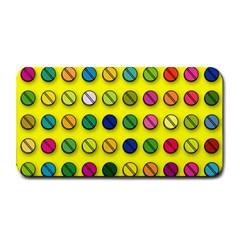Multi Col Pills Pattern Medium Bar Mats