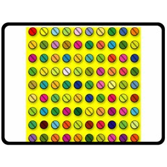 Multi Col Pills Pattern Fleece Blanket (Large)