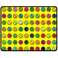 Multi Col Pills Pattern Fleece Blanket (Medium)
