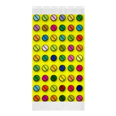 Multi Col Pills Pattern Shower Curtain 36  x 72  (Stall)