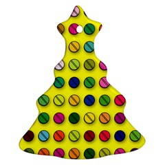 Multi Col Pills Pattern Ornament (Christmas Tree)