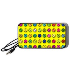 Multi Col Pills Pattern Portable Speaker (Black)