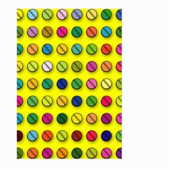 Multi Col Pills Pattern Large Garden Flag (Two Sides)