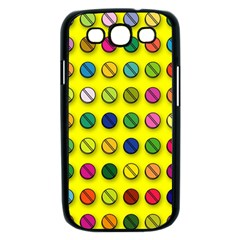 Multi Col Pills Pattern Samsung Galaxy S III Case (Black)