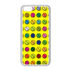 Multi Col Pills Pattern Apple Iphone 5c Seamless Case (white)