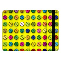 Multi Col Pills Pattern Samsung Galaxy Tab Pro 12 2  Flip Case