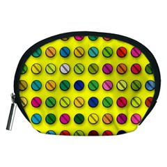 Multi Col Pills Pattern Accessory Pouches (Medium)