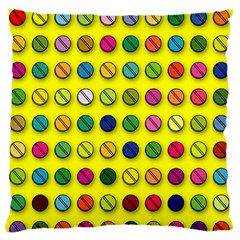 Multi Col Pills Pattern Standard Flano Cushion Cases (One Side)