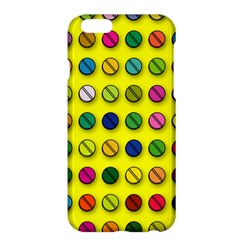 Multi Col Pills Pattern Apple Iphone 6 Plus Hardshell Case