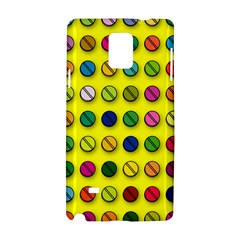 Multi Col Pills Pattern Samsung Galaxy Note 4 Hardshell Case