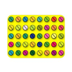 Multi Col Pills Pattern Double Sided Flano Blanket (Mini)