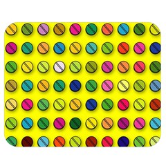 Multi Col Pills Pattern Double Sided Flano Blanket (Medium)