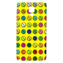 Multi Col Pills Pattern Galaxy Note 4 Back Case