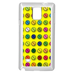 Multi Col Pills Pattern Samsung Galaxy Note 4 Case (White)