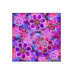 Pretty Floral Painting Satin Bandana Scarf