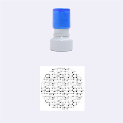 Multi Col Pills Pattern Rubber Round Stamps (Small)