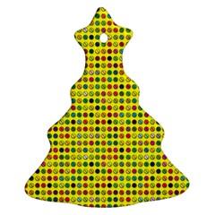 Multi Col Pills Pattern Christmas Tree Ornament (2 Sides)