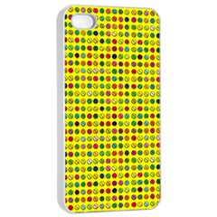 Multi Col Pills Pattern Apple iPhone 4/4s Seamless Case (White)