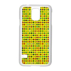 Multi Col Pills Pattern Samsung Galaxy S5 Case (white)