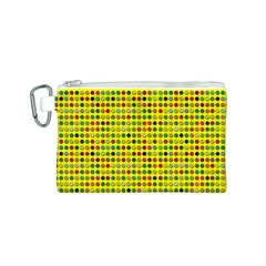 Multi Col Pills Pattern Canvas Cosmetic Bag (S)