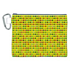 Multi Col Pills Pattern Canvas Cosmetic Bag (XXL)
