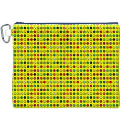 Multi Col Pills Pattern Canvas Cosmetic Bag (xxxl)