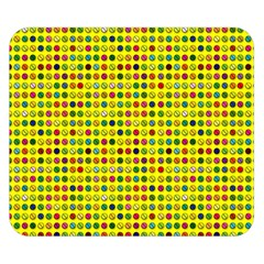 Multi Col Pills Pattern Double Sided Flano Blanket (small)