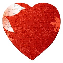 flower_plate Jigsaw Puzzle (Heart)