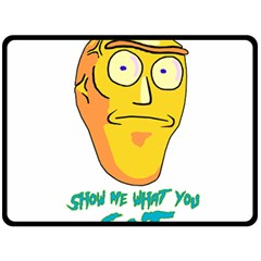 Show Me What You Got New Fresh Double Sided Fleece Blanket (Large)