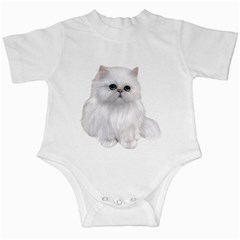 White Persian Cat Clipart Infant Creepers