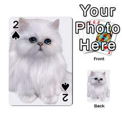 White Persian Cat Clipart Playing Cards 54 Designs