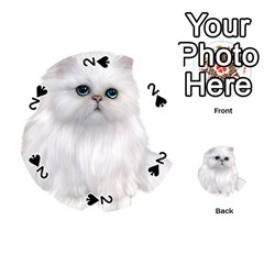 White Persian Cat Clipart Playing Cards 54 (Round)