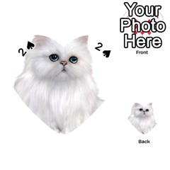 White Persian Cat Clipart Playing Cards 54 (heart)